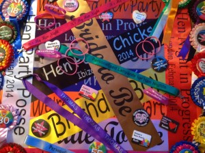personalised sashes